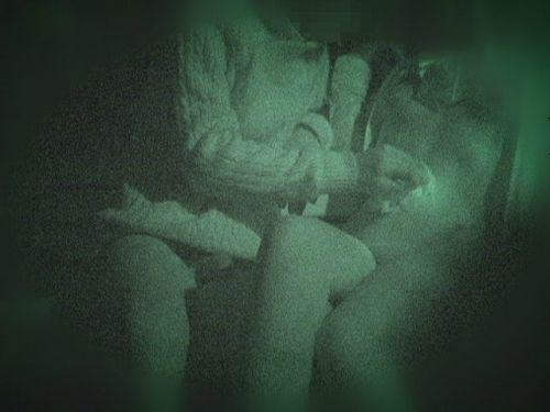 【盗撮画像】若いカップルの野外セックスが赤外線カメラで丸見えだわwww 32枚 No.8