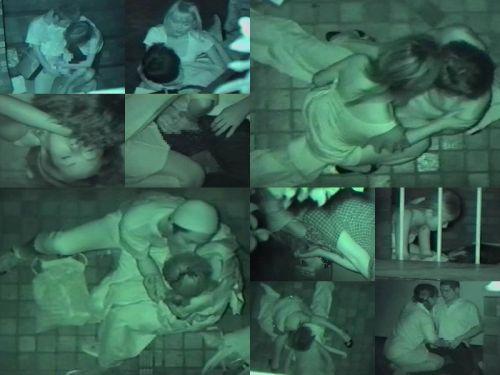 【盗撮画像】若いカップルの野外セックスが赤外線カメラで丸見えだわwww 32枚 No.22