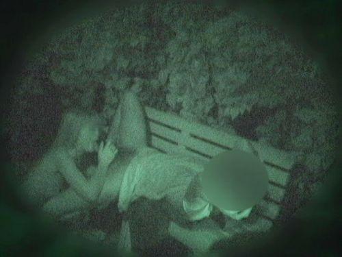 【盗撮画像】若いカップルの野外セックスが赤外線カメラで丸見えだわwww 32枚 No.23