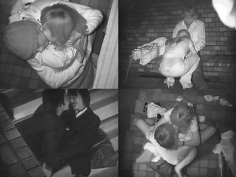 【盗撮画像】若いカップルの野外セックスが赤外線カメラで丸見えだわwww 32枚 No.32