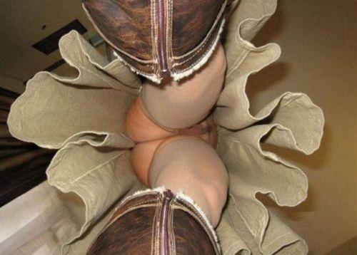 【激レア!】ノーパンストッキングな女性限定の逆さ撮りエロ画像 40枚 No.37