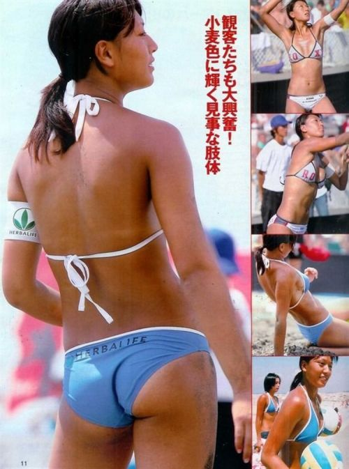 元ビーチバレー浅尾美和の試合中の胸チラ・股間・お尻を盗撮したエロ画像 51枚 No.49