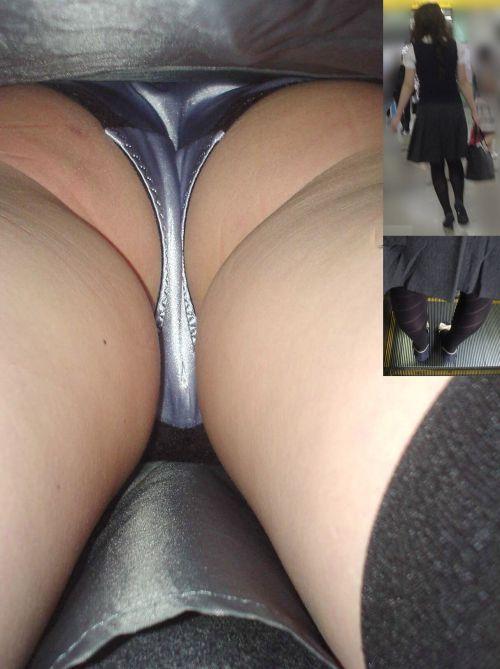 ストッキングにTバックパンティを履いたお姉さん限定の逆さ撮り盗撮画像 34枚 No.32