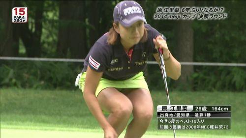 【エロ画像】女子ゴルフのTV中継のハプニングパンチラが抜けるwwww 37枚 No.2