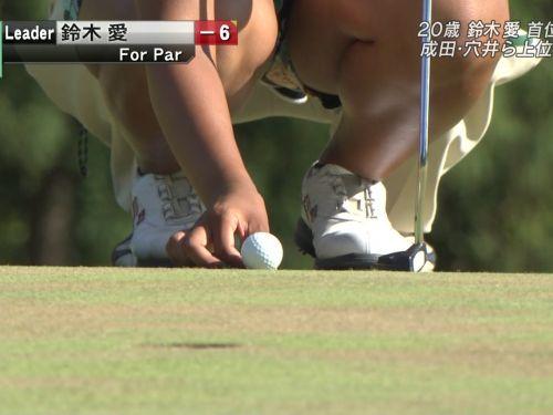 【エロ画像】女子ゴルフのTV中継のハプニングパンチラが抜けるwwww 37枚 No.7