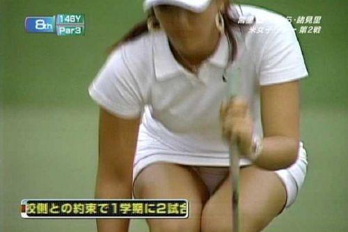 【エロ画像】女子ゴルフのTV中継のハプニングパンチラが抜けるwwww 37枚 No.10