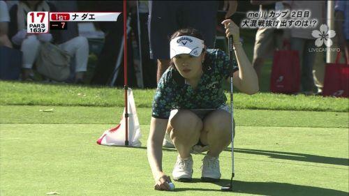 【エロ画像】女子ゴルフのTV中継のハプニングパンチラが抜けるwwww 37枚 No.11
