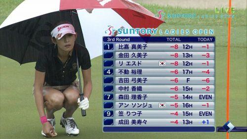 【エロ画像】女子ゴルフのTV中継のハプニングパンチラが抜けるwwww 37枚 No.16