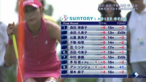 【エロ画像】女子ゴルフのTV中継のハプニングパンチラが抜けるwwww 37枚 No.19