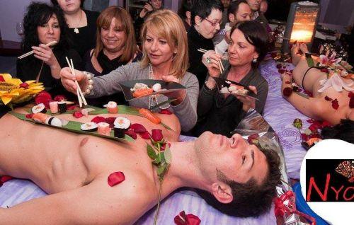 刺し身の味付けは愛液でお願いしたい女体盛りのエロ画像 39枚 No.20
