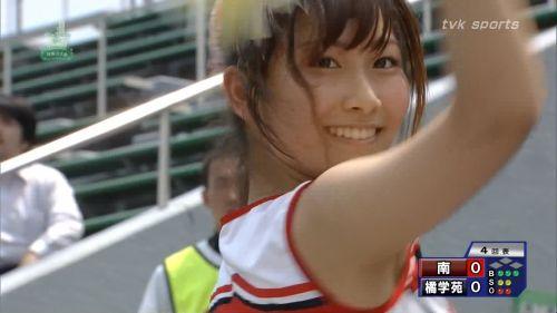 甲子園でJKチアリーダーのワキチラ限定で盗撮したエロ画像 45枚 No.12