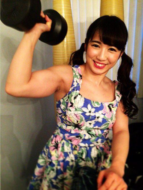 才木玲佳(さいきれいか) 可愛いマッチョアイドルの筋肉が凄すぎwww 78枚 No.74