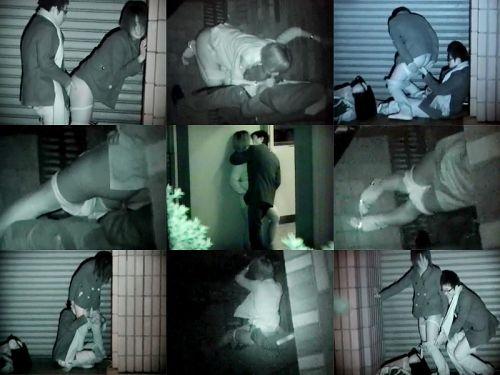【画像】カップルの野外後背位セックスを赤外線カメラで盗撮したったwww 33枚 No.12