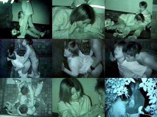 【画像】カップルの野外後背位セックスを赤外線カメラで盗撮したったwww 33枚 No.14