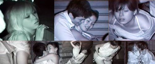 【画像】カップルの野外後背位セックスを赤外線カメラで盗撮したったwww 33枚 No.19