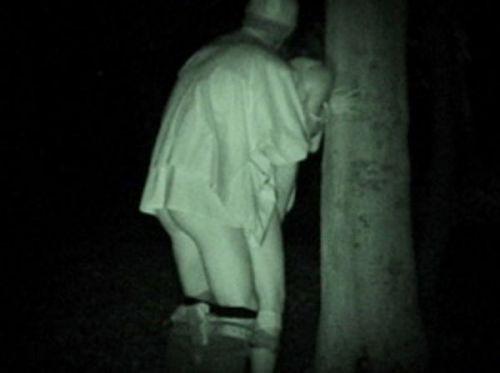 【画像】カップルの野外後背位セックスを赤外線カメラで盗撮したったwww 33枚 No.32