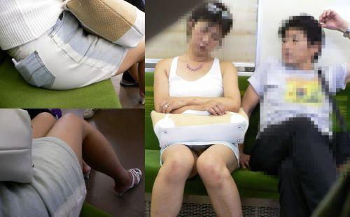 電車内で素人がデルタゾーンパンチラやパンモロしてる盗撮画像 39枚 No.17