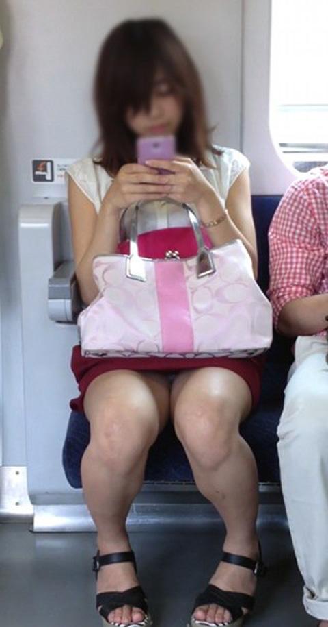 電車内で素人がデルタゾーンパンチラやパンモロしてる盗撮画像 39枚 No.35