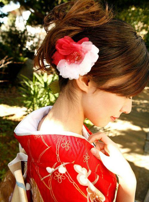【盗撮画像】着物姿の和服美人のうなじがやっぱり一番色っぽいよな! 48枚 No.8