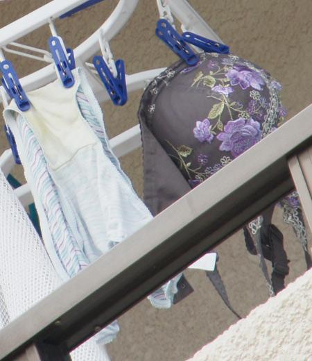 ベランダで干してあるパンティやブラジャーを盗撮した下着エロ画像 34枚 No.27