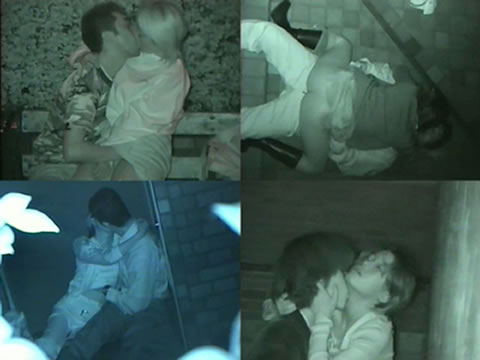 赤外線カメラでカップルの青姦セックスをこっそり盗撮したエロ画像 31枚 No.1