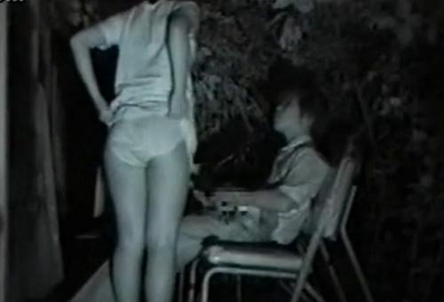赤外線カメラでカップルの青姦セックスをこっそり盗撮したエロ画像 31枚 No.6
