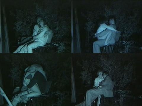赤外線カメラでカップルの青姦セックスをこっそり盗撮したエロ画像 31枚 No.9