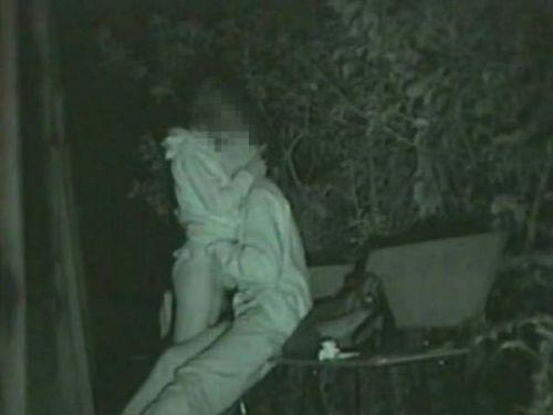 赤外線カメラでカップルの青姦セックスをこっそり盗撮したエロ画像 31枚 No.10