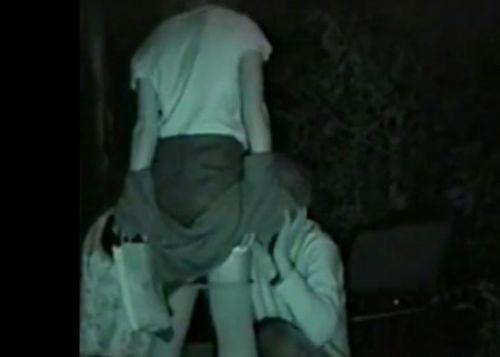 赤外線カメラでカップルの青姦セックスをこっそり盗撮したエロ画像 31枚 No.11