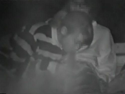 赤外線カメラでカップルの青姦セックスをこっそり盗撮したエロ画像 31枚 No.16