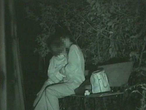 赤外線カメラでカップルの青姦セックスをこっそり盗撮したエロ画像 31枚 No.18
