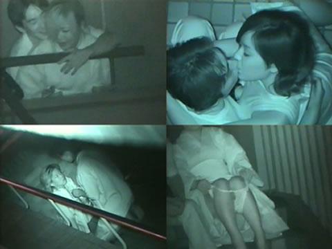 赤外線カメラでカップルの青姦セックスをこっそり盗撮したエロ画像 31枚 No.19