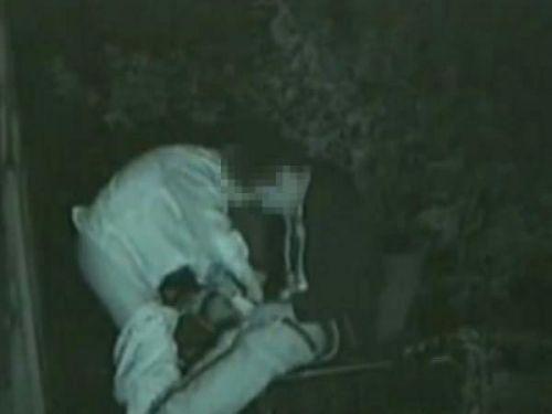 赤外線カメラでカップルの青姦セックスをこっそり盗撮したエロ画像 31枚 No.22