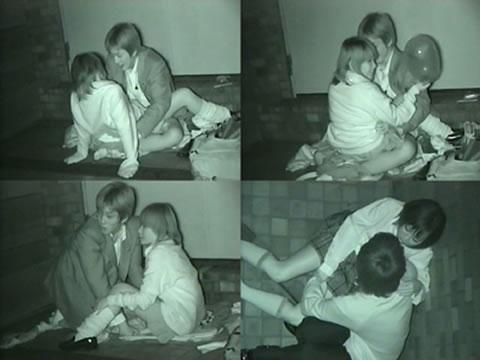 赤外線カメラでカップルの青姦セックスをこっそり盗撮したエロ画像 31枚 No.23