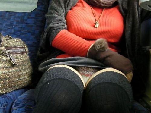 【画像】電車内でデルタゾーンパンチラや股開きパンチラを激写盗撮www 38枚 No.1