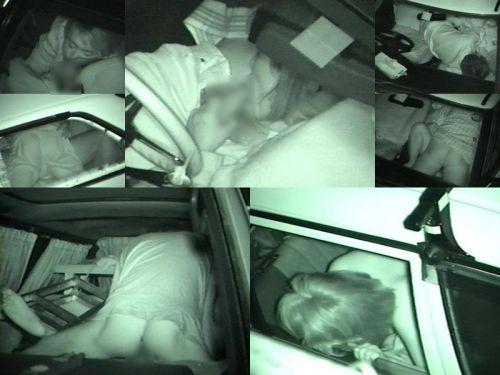 赤外線カメラでカーセックス中の素人カップルを盗撮したエロ画像まとめ 37枚 No.4