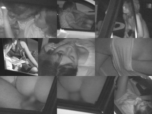 赤外線カメラでカーセックス中の素人カップルを盗撮したエロ画像まとめ 37枚 No.9
