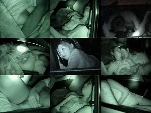 赤外線カメラでカーセックス中の素人カップルを盗撮したエロ画像まとめ 37枚 No.14