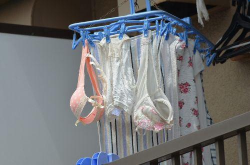 下着泥棒の大好物!パンティやブラジャーを外干しした洗濯物盗撮エロ画像 36枚 No.5