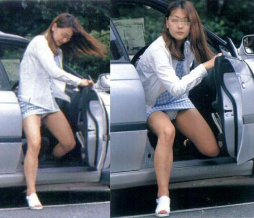 車の乗り降りする時のパンチラチャンスを盗撮した画像がこちらですwww 32枚 No.19