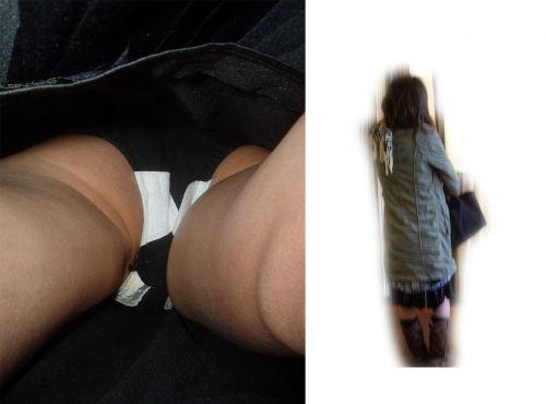 生理中のナプキンの羽が生えたパンティを逆さ撮りした盗撮画像 34枚 No.3
