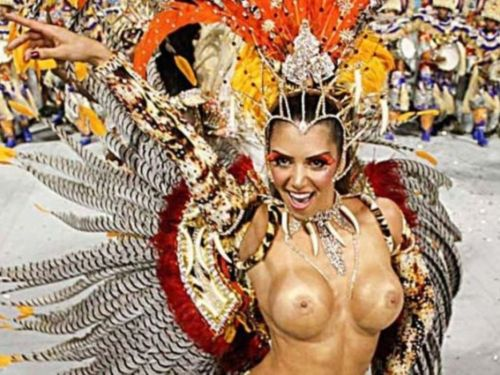 サンバカーニバルで外国人がおっぱい丸出しで踊り狂うエロ画像 36枚 No.1