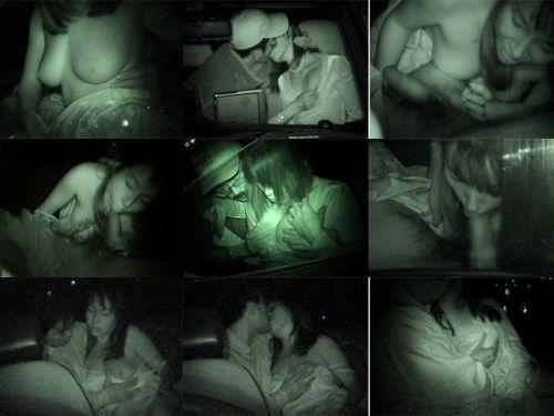 赤外線カメラで揺れる車内を盗撮したカーセックスのエロ画像 35枚 No.22