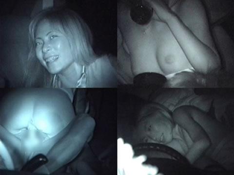 赤外線カメラで揺れる車内を盗撮したカーセックスのエロ画像 35枚 No.26