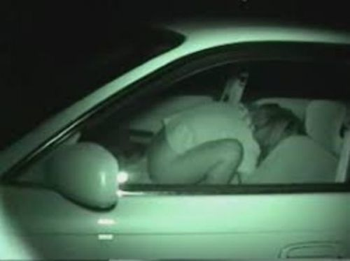 赤外線カメラで揺れる車内を盗撮したカーセックスのエロ画像 35枚 No.28