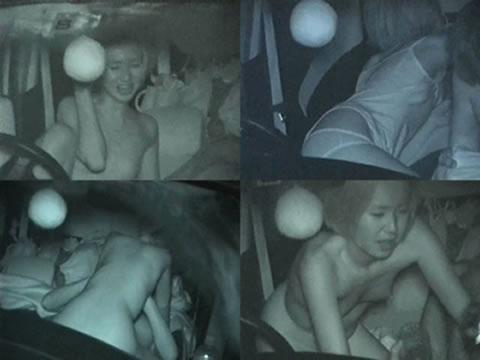 赤外線カメラで揺れる車内を盗撮したカーセックスのエロ画像 35枚 No.29