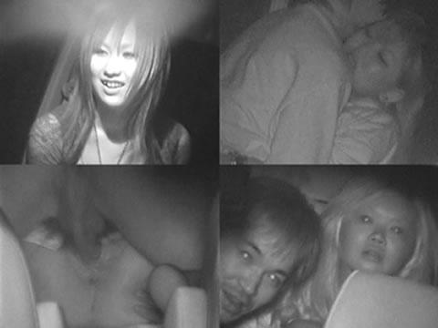 赤外線カメラで揺れる車内を盗撮したカーセックスのエロ画像 35枚 No.32