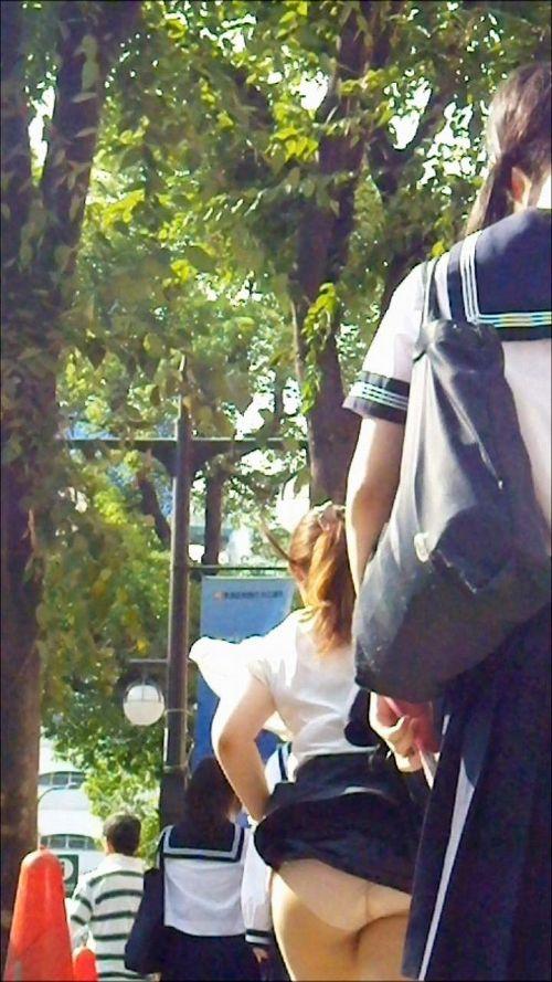 JKのスカートが舞い上がる神風パンチラが芸術的なエロ画像 36枚 No.20