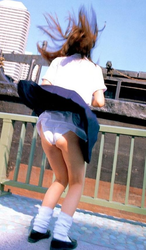 JKのスカートが舞い上がる神風パンチラが芸術的なエロ画像 36枚 No.24