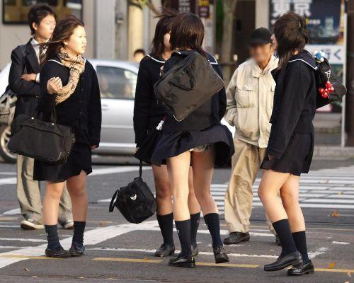 JKのスカートが舞い上がる神風パンチラが芸術的なエロ画像 36枚 No.29